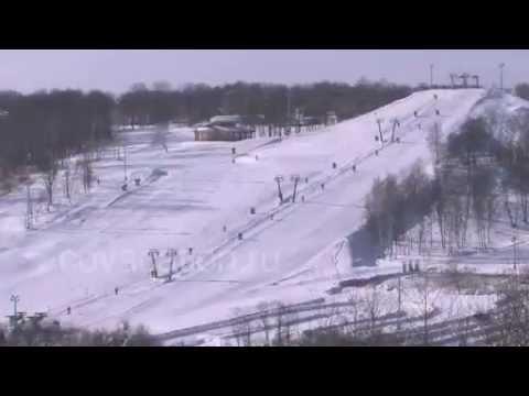 Видео: Видео горнолыжного курорта Яхрома, Парк в Московская область
