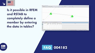 FAQ 004182 | Is it possible in RFEM and RSTAB to completely define a member by entering the data in tables?