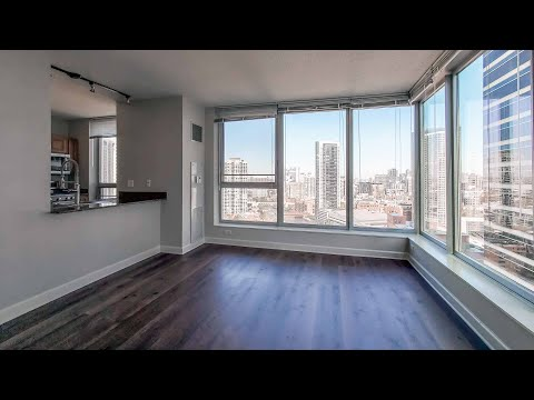 An -01 2-bedroom, 2-bath near River North and the West Loop at Left Bank