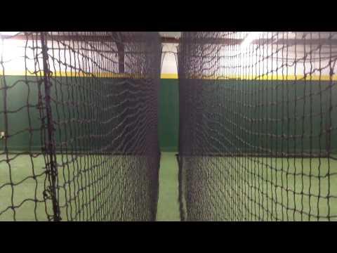 Baseball batting cage facility Cartersville GA 11x15x40 ft. Sliding / Retractable NETS