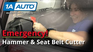How to Use an Emergency Hammer & Seat Belt Cutter