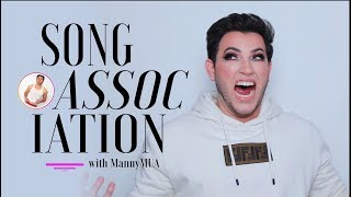 Song Association with Manny MUA! I SWEARS I Can SING | ELLE PARODY
