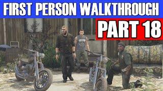 GTA 5 First Person Gameplay Walkthrough Part 18 - BIKER BEEF! | GTA 5 First Person