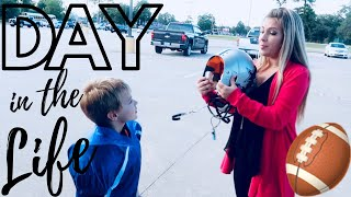 DAY IN THE LIFE OF A FOOTBALL MOM // Pink After Blue