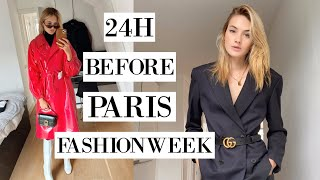 24 Hrs Before Paris Fashion Week | What I Eat, Skincare, My Makeup, & Fashion I Pack | Sanne Vloet