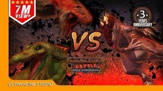 Spino VS T Rex VS I Rex : Dinosaurs Battle Special