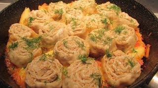 Штрудель с картофелем и мясом