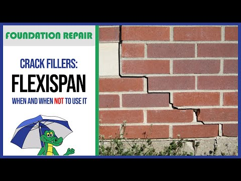 🐊Crack Fillers: When to Use FlexiSpan | Foundation Repair