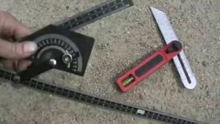 Как пользоваться угломером