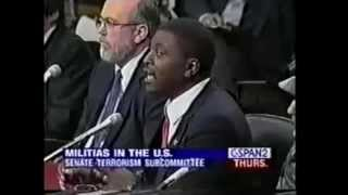 American Militia Leader James Johnson Speaks to the Senate