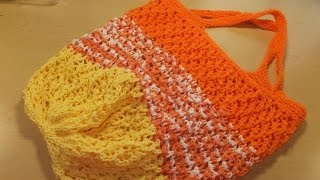 #LoveSummerArt ~ How to Knit a Summer Tote Bag