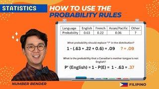 Grade 8 Math | Paano gamitin ang mga probability rules sa pagsagot ng probability | Numberbender
