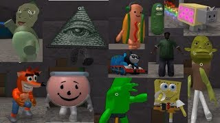 Roblox Meme Simulator 3D - All Characters Gameplay