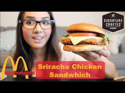 McDonald's Signature Crafted Sriracha Burger - FOOD REVIEW