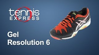 Asics Gel Resolution 6 Men's Tennis Shoes video
