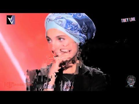 REPTILIAN HOLOGRAM MALFUNCTION ON FRENCH TV!