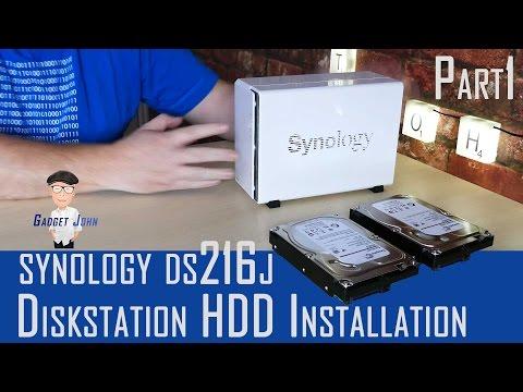 Synology Diskstation DS216J - HDD Installation & Initial Setup - Pt1