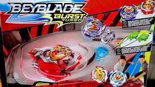 Beyblade Burst Turbo SLINGSHOCK RAIL RUSH BATTLE SET Unboxing & Demo!