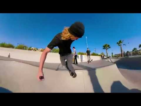 Skate edit shot with the GoPro Fusion at Vans Skatepark in Huntington Beach