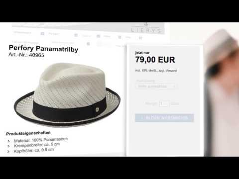 Panamatrilby by Lierys || Sommerhut für Herren || Lierys Hut