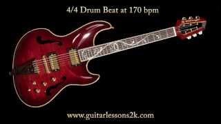Drum Beats To Practice With: 4/4 Drum Beat at 170 BPM
