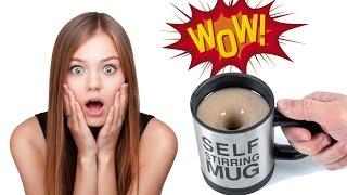 """ЖЕСТЬ: Водоворот в чашке / Self stirring mug /  Чашка которая сама перемешивает / """"Буря в стакане"""""""