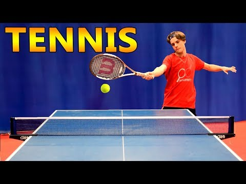 Tennis Ping Pong (epic serve)