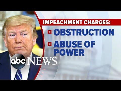 House Democrats unveil first articles of impeachment  l ABC News