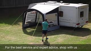 Kampa Sunshine Air Pro Side Wall Set Pitching & Packing Video (Real Time)