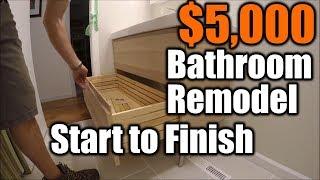 Small Bathroom Remodel Start To Finish | THE HANDYMAN