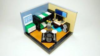 LEGO Teen Boy Bedroom MOC (My Own Creation)