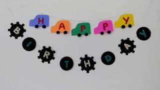 DIY Birthday Banner / Make Attractive Birthday Banners At Home #2