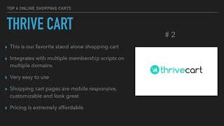 Best Online Shopping Cart for 2018