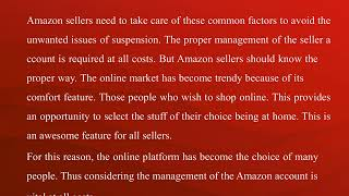 Amazon account suspension for infringement