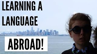 Learning a language abroad struggles   exchange student