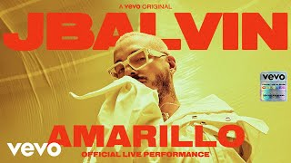 "J Balvin - Amarillo (Official Live Performance) | Vevo  Limitless imagination is a defining characteristic of great musicians - J Balvin proves that. The Colombian superstar's passion for creativity explodes past mere music-making, and heads into the realms of visual aesthetics, fashion and pop culture. In the last decade, the Medellin native has helped turn his city, and Latin America in general, into the coolest place to be in pop music. He wears Pikachu hoodies with not-even-dropped-yet Yeezys while riding the tops of charts from Canada to Chile. And from Pharrell to Bad Bunny to Colin Tilley, the urbano/reggaeton hero works with the only best. Naturally, we wanted to collaborate with him. When our teams joined forces in Miami to capture these performances, Balvin's iridescent ideas flowed like the Magdalena. Taking inspiration from 'Colores,' the teams worked with Rio-based Penique Productions to turn the interior of a mansion into a vibrant representation of each song's hue. First up: ""Amarillo."" According to Balvin, yellow embodies happiness. Dressed head to toe in the sunshine shade, he cooly slid over the track's dembow beat and catchy horn hook in a performance that left everyone happy. Stay tuned - there's more coming soon.  J Balvin https://www.instagram.com/jbalvin https://twitter.com/JBALVIN https://www.facebook.com/JBalvinOficial  Vevo  http://facebook.com/vevo http://twitter.com/vevo http://instagram.com/vevo  Executive Producer: Micah Bickham Director: Kyle Goldberg Producer: Hailey Rovner Producer: Saharah Sejour Producer: Tomas Alvear Production: CONTRAST Films Director of Photography: Janssen Powers Editor: Ramy Elsokary Music & Talent: Gabby Prisciandaro & Julie Fernandez  #OfficialLivePerformance #JBalvin #Amarillo  Music video by J Balvin performing Amarillo (Official Live Performance) 