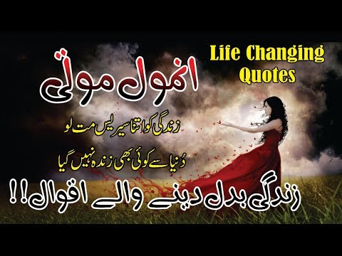 Anmol Moti life changing golden words in hindi urdu with voice and images || aqwal e zareen