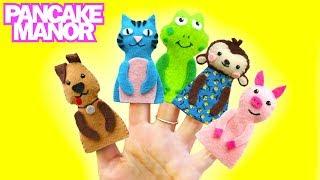 ANIMAL FINGER FAMILY ♫  Finger Family Song   Nursery Rhyme   Pancake Manor