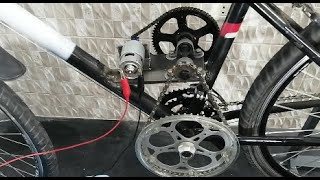 transformation bicycle to electric bike using 775 motor