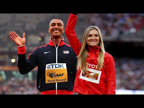 Ashton Eaton and Brianne Theisen-Eaton react to the Heptathlon and Decathlon