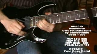 Boss GT10 - Adagio - Arcanas Tenebrae / Dominate - A patch by Brindavoine