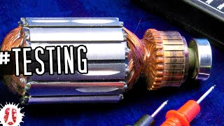 Broken Electric Motor? HOW TO Test If A Motor Armature With Commutator Is Damaged #ElectricMotor