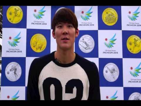 박태환 선수가 전하는 2014인천아시안게임 기념주화 구매 메시지