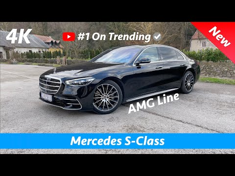 Mercedes S-Class 2021 AMG Line - FIRST look in 4K | Exterior - Interior (Obsidian Black Metallic)