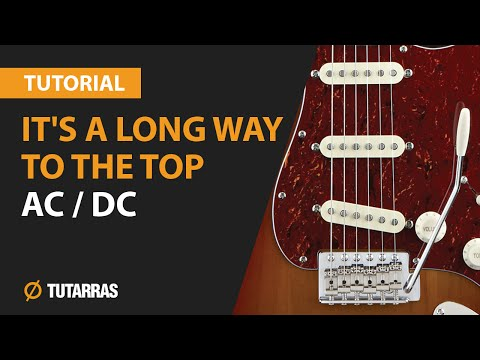 ITS A LONG WAY TO THE TOP - AC/DC How to play - Electric GUITAR LESSON
