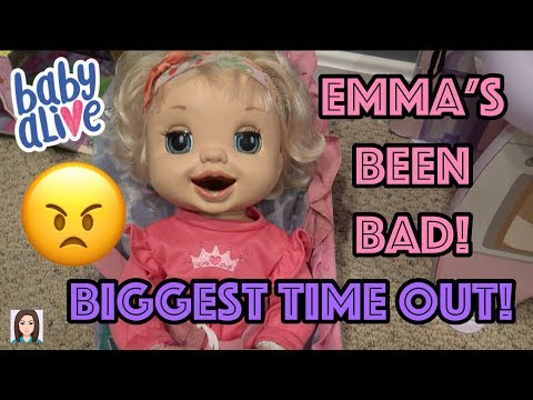 Baby Alive Emma's Biggest Time Out! Emma's Been BAD!