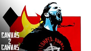 A fiery tribute to the namesake of Monday Night Rollins: WWE Canvas 2 Canvas