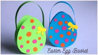 DIY Easter Egg Basket  | Handmade Paper Treat Bags For Easter 2020
