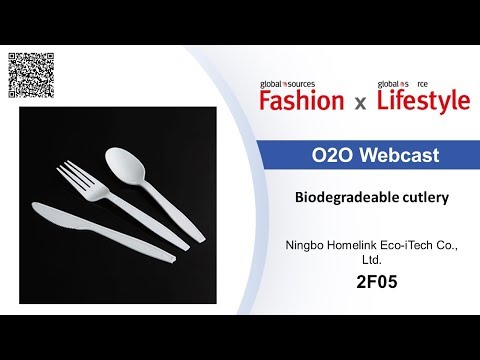Biodegradeable cutlery - Lifestyle show