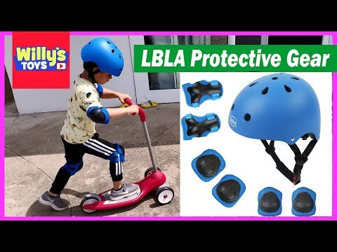 LBLA Bicycle / Skateboarding Helmet and Elbow / Knee Pads for Kids - Willy's Toys Review